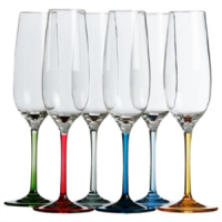 MARINE-BUSINESS-BICCHIERE-COPPA-CHAMPAGNE-BASE-COLORATA-SERIE-PARTY-PZ6-